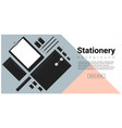 stationery accessories background vector image