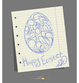 pattern painted easter egg on a paper background vector image vector image
