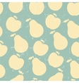 Grunge Retro seamless pattern of fruit - apple and vector image