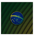 Digital background with blue disc of flag Brazil vector image