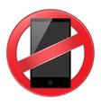 mobile phone forbidden vector image