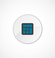 calculator icon 2 colored vector image