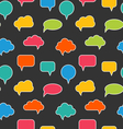 Seamless Texture with Blank Speech Bubbles vector image