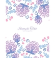 soft purple flowers vertical double borders vector image