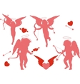 Four holiday cupid vector image