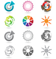 modern icons or logo elements vector image vector image