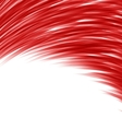 Red abstract wave techno background vector image