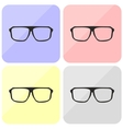 Glasses hipster set with black thick holder vector image vector image