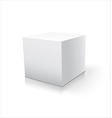 Box white icon Template for your design vector image