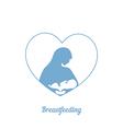 Breastfeeding symbol vector image