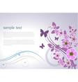 floral design card vector image