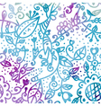 Floral seamless pattern watercolor design vector image