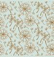 fluffy dandelion blue pastel seamless vector image