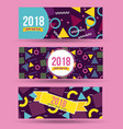 happy new year 2018 card greeting banner abstract vector image