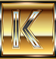 Ingot Font Letter K vector image