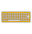 keyboard device digital equipment top view vector image