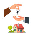 real estate agent giving keys vector image