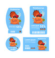 sale thanksgiving day tags set autumn holiday vector image