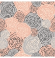 Seamless pattern with decorative roses Floral vector image