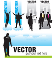 set people activites banners vector image