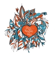 sketchy love and hearts doodles vector image