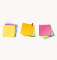 stack of color stickers vector image