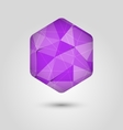 Violet polygon abstract hexagon background vector image