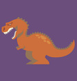 cartoon of dinosaur vector image