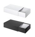 Package Cardboard Sliding Box Opened vector image