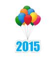 Balloons 2015 vector image