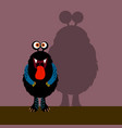 cute black monster with shadow vector image