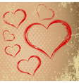 Drawing in the shape of heart abstract heart with vector image