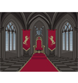 Medieval Castle Throne Room vector image
