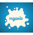 Milk splodge blue background vector image