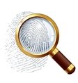 Thumbprint examination vector image