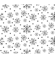 winter background of drawn lines vector image