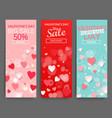 sale header for happy valentines day celebration vector image vector image