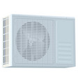 white modern external air conditioner compressor vector image