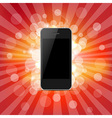 Phone And Red Sunburst vector image vector image