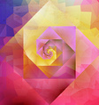 Vibrant vintage optic art geometric pattern vector image