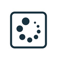 loading icon Rounded squares button vector image