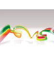 Rasta modern wave vector image vector image