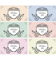 wedding carriage vector image vector image