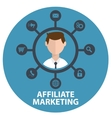 icon of affiliate marketing in vector image