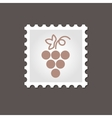 Grapes stamp Outline vector image