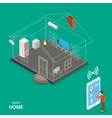 Smart home isometric flat concept vector image