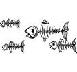 Dead Fish vector image vector image