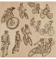 Cycling - An hand drawn pack vector image