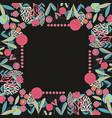 floral frame for design vector image