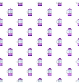 French press coffee maker pattern cartoon style vector image